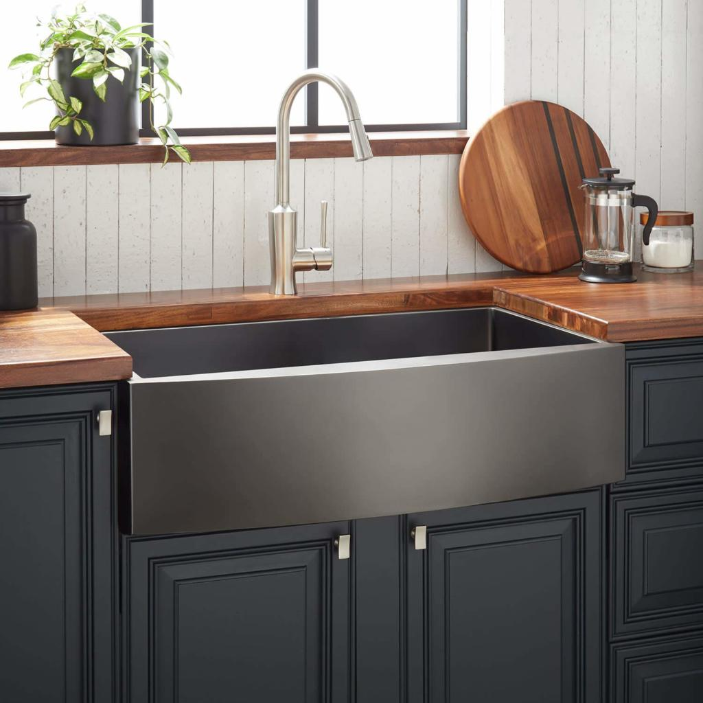 Choose Yours Black Stainless Steel Farmhouse Sinks Black