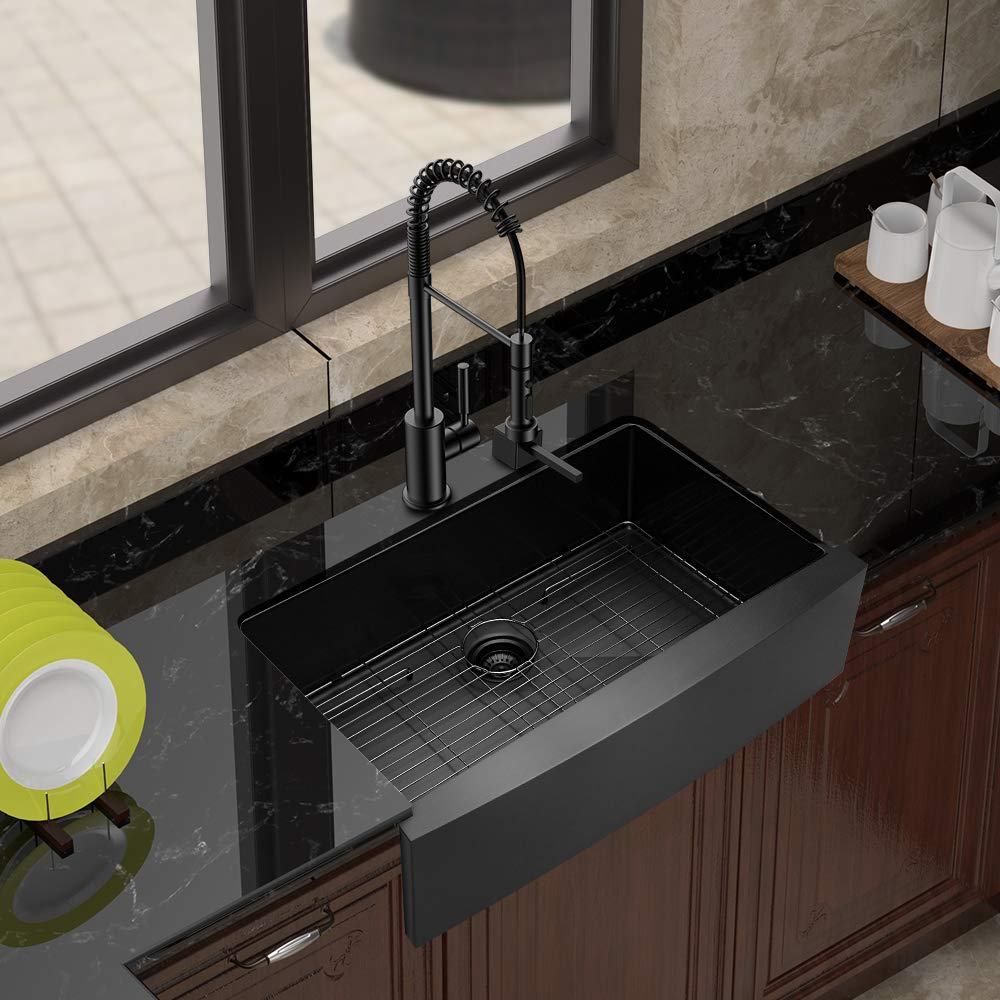 Choose Yours Black Stainless Steel Farmhouse Sinks Black Stainless Steel